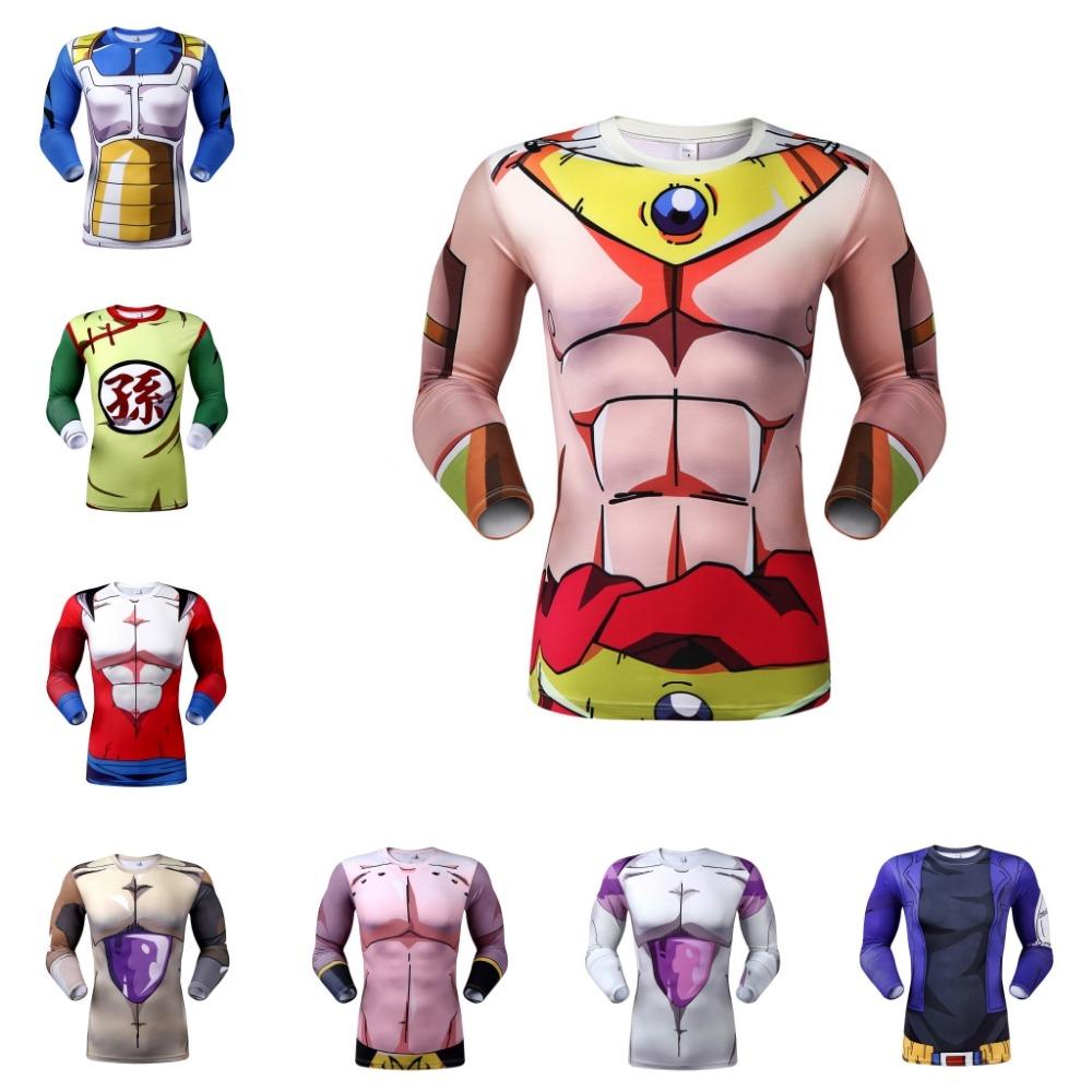 2016 women men cartoon t shirt anime dragon ball t-shirt for boy fashion men 3d print long sleeve fitness sport t shirt(China (Mainland))