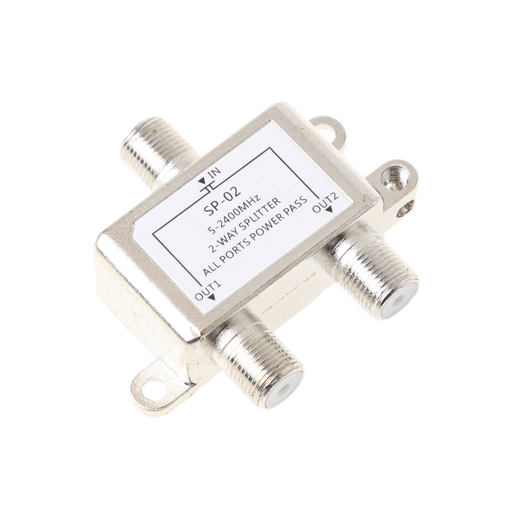 2 Way Coax Cable Splitter Coaxial Satellite/Antenna/Cable TV Splitter Distributor Antenna Satellite Signal Split