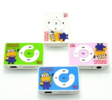 Wholesale Quality Minion Mini MP3 Music Player with TF Card Slot for leisure no accessories