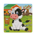 High Quality Wooden Dairy Cow Jigsaw Gift Toys For Kids Education And Learning Puzzles Toys Aug6