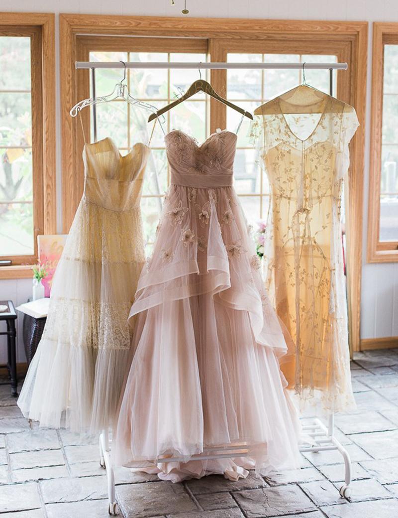 Blush sunflower bridal wedding dress tulle a line for Sunflower dresses for wedding