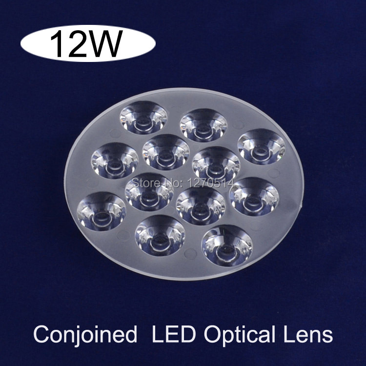 Free shipping 10pcs LED Lens \ 12W Conjoined Twin LED Optical Lens Reflector Size: (D)92 * (H)11mm(China (Mainland))