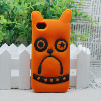 Free Shipping!cute mobilephone cat series top quality silicon case for apple iPhone 5s 5 4s 4 Cat Dog Owl Silicon Cover Case