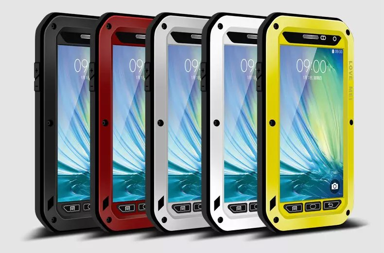 1PCS Gorilla Glass Screen Waterproof Case For Samsung Galaxy A7 Powerful Shockproof Waterproof Metal Aluminum Phone Cover Case