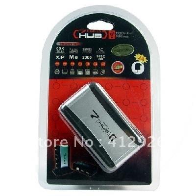 free shipping!!!new 7 Port USB 2.0 Hub - Support 480 Mps Data Speed 900578-SKU2010112003