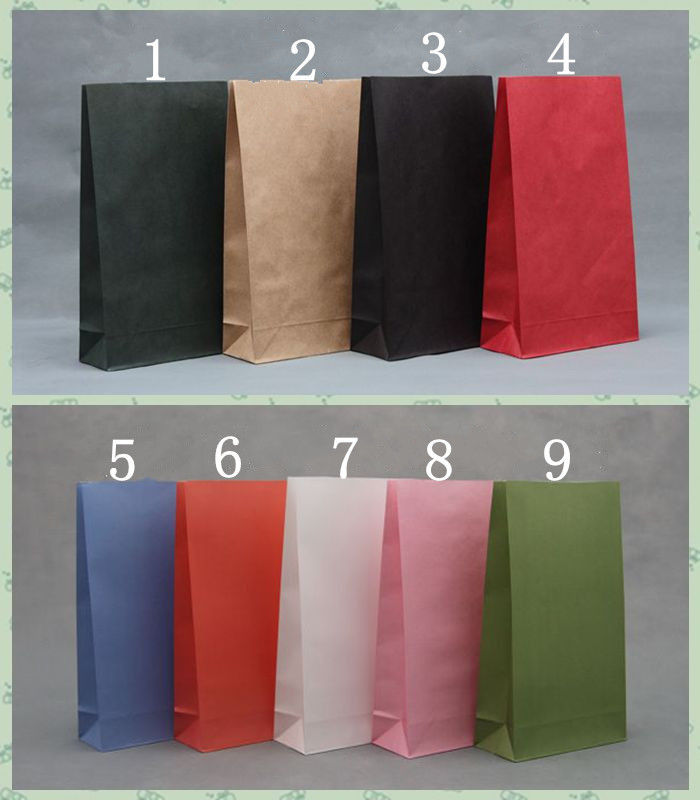 Size 32*18*7.5cm (12.5 inch*7 inch*3) Gift Paper Bags Without Handle food packaging Shopping 5 - Yiwu Zilue Trading Co.,Ltd Store store