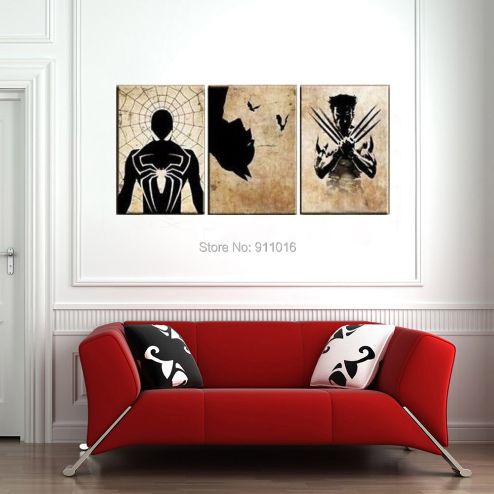 Buy cartoon wolverine painting handmade abstract wall paintings home decor - Home decor stores mn paint ...