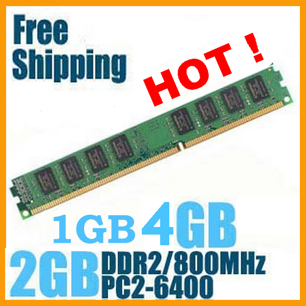 HOT Brand New Sealed DDR2 800 PC2 6400 1GB 2GB 4GB Desktop RAM Memory compatible with