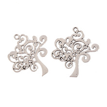 2Pcs tibetan silver tree shape Alloy charms Pendants fit bracelet Jewelry finding 38 38mm