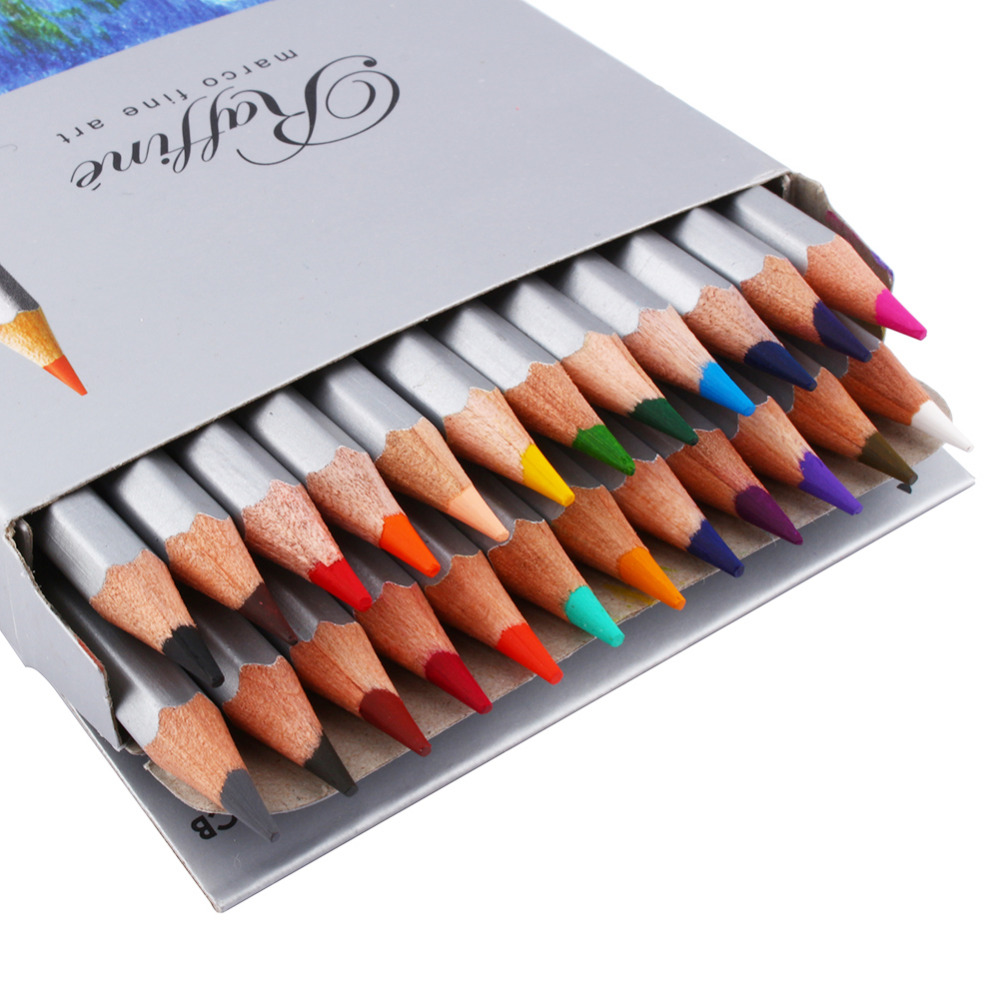 Fine Art 24 Color Marco Drawing Oil Base Non-toxic Pencils Set Artist Sketch<br><br>Aliexpress