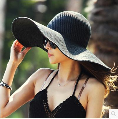 Hat wholesale sale big straw hat sunshade hat costume dome straw. Lady leisure beach Small gift ball cap Ms wool hat(China (Mainland))