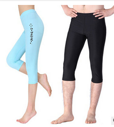 Womens Men Snorkeling Diving Cropped Leggings Tight Trousers Pants Rash Guard Gym<br><br>Aliexpress