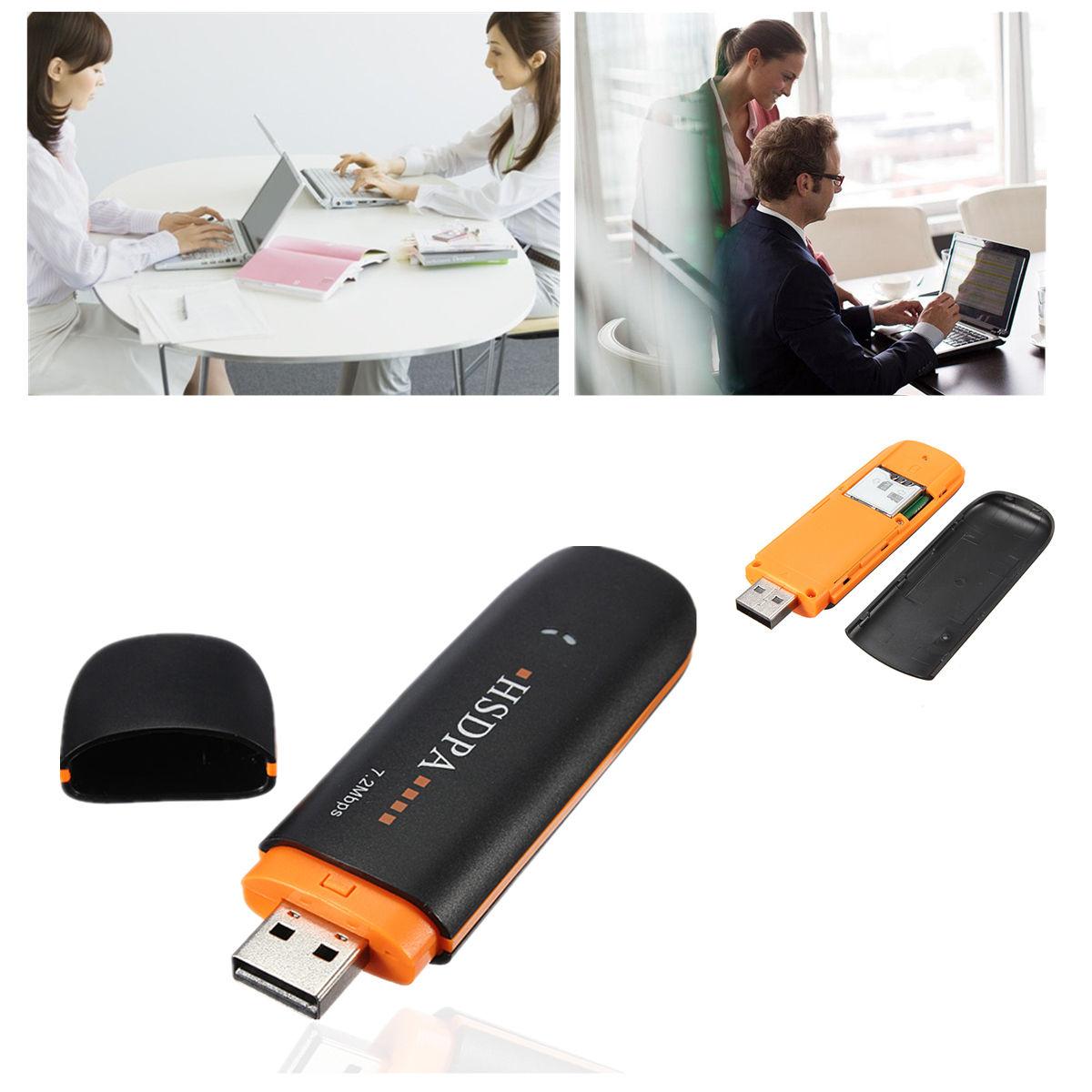 HSDPA EDGE 7.2Mbps Wireless USB2.0 3G Network Modem Adapter TF SIM Card Slot Hot