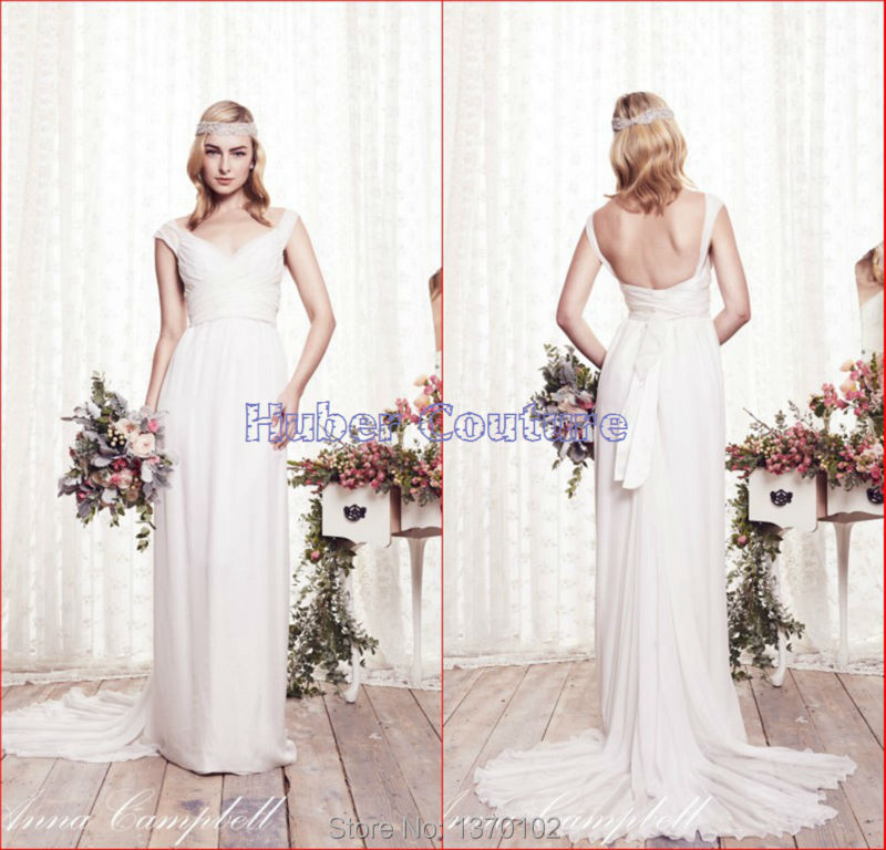 Buy 2015 anna campbell off the shoulder for Wedding dresses to buy off the rack