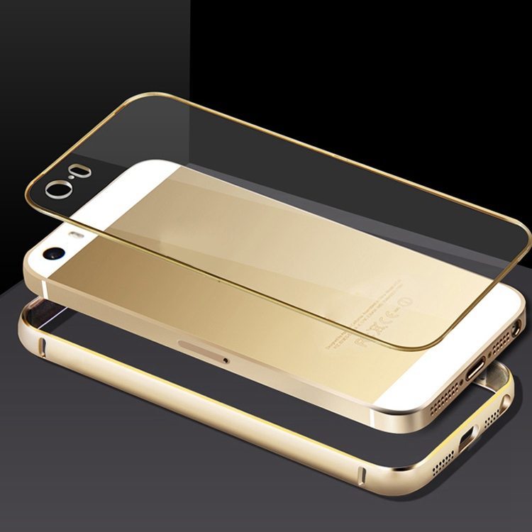 For Capa Para iPhone 5s New Arrival Aluminum Skin+Clear PC Back Cover Hard Back Phone Case For Apple iPhone 5 5G 5S Case Luxury(China (Mainland))