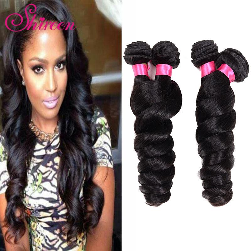 Brazilian Loose Wave Virgin Hair Unprocessed Brazilian Virgin Hair 4 Bundles 100g Cheap Human Hair Loose Wave Natural Color<br><br>Aliexpress