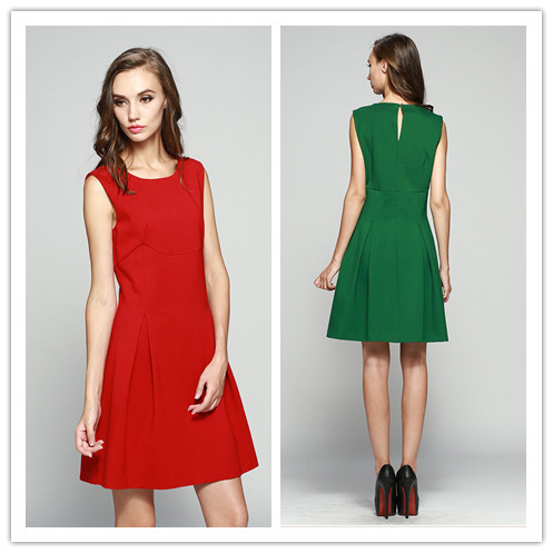 June's Young Cheap Price 2015 European Style Plus Size Fashion Party Vestidos Sexy Slim Mini Dress Spring winter women dresses(China (Mainland))