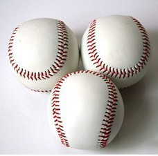 "2pcs/lot Free shipping 2.75"" New White Base Ball Baseball Practice Trainning Hard or Softball Sport Team Game wholesale(China (Mainland))"