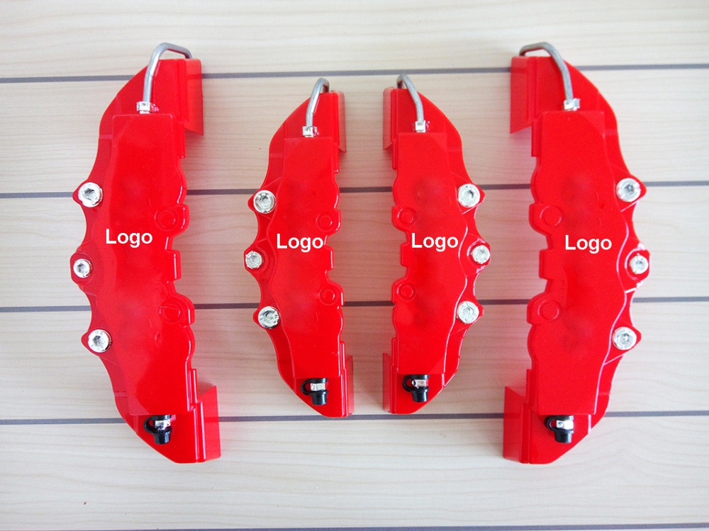 Hot Sale Pro 4x 3D one set Red Brembo Style Universal Disc Brake Caliper Covers Front Rear Caliper Cover(China (Mainland))