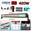 32Inch 420W Cree Chip 5D Boat External Headlights Combo LED Light Bar Off road Driving Lamp