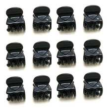 Fashion Women Girls 12pcs Black Plastic Mini Hairpin 6 Claws Hair Clip Clamp(China (Mainland))