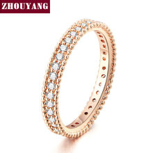 Buy Rose Gold Color Simple Classic Wedding & Engagement Ring Jewelry Made Cubic Zirconia Women ZYR490 for $1.95 in AliExpress store