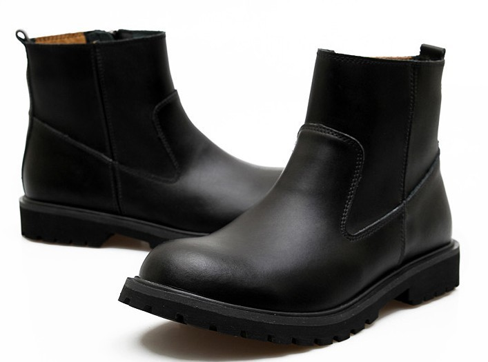 2013 Winter Couple Models Motorcycle Boots Martin Men's British Fashion Short Leather - Happy life shopping store