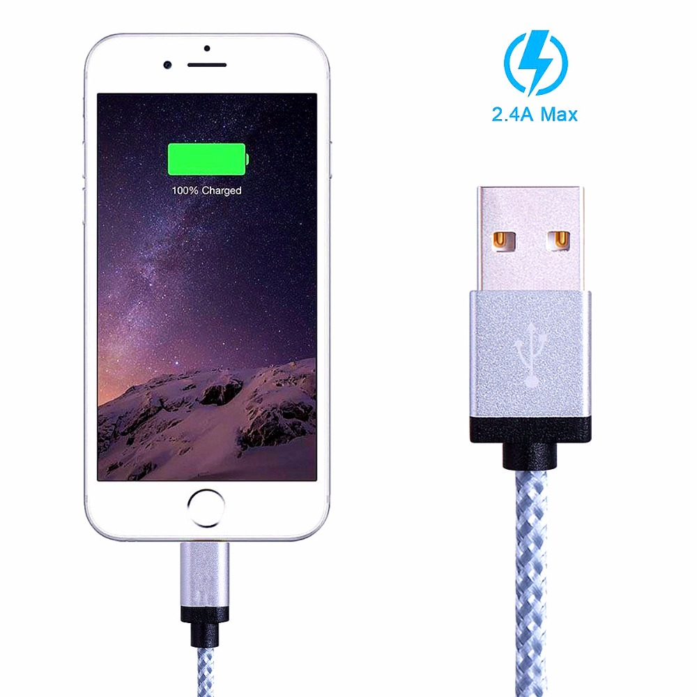 SHELI MFI 2.4A USB Charger Cable for iPhone 7 5 5s 6 6s ipad SE ipad air mini Wire 1m 2m Fast Charging cord Mobile Phone Cables(China (Mainland))