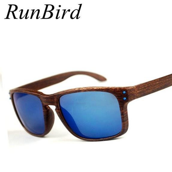 RunBird 2016 Модный бренд Дерево Солнцезащитные Очки Марка Дизайнер Деревянные Очки ...