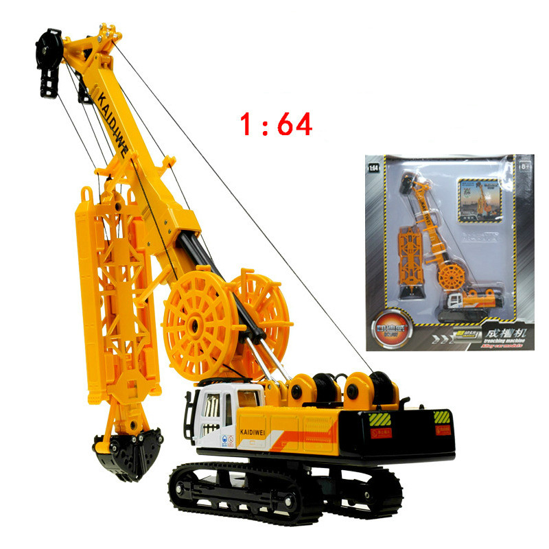 2016 new High Quality engineering die-cast car model 1:64 trenching machine engineering alloy toys in box best children gift(China (Mainland))