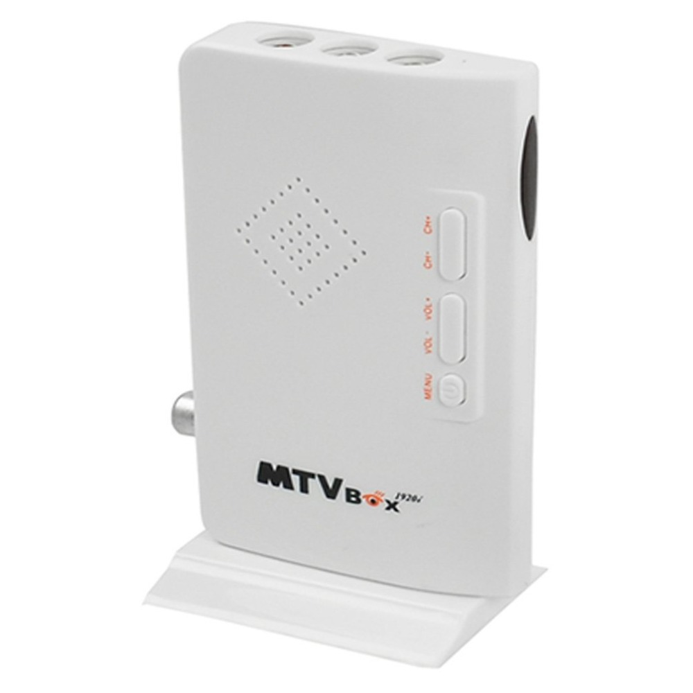 2015 New External HD LCD CRT VGA External TV Tuner MTV Box PC BOX Receiver Tuner HD 1080PTV Box AV To VGA With Remote Control(China (Mainland))