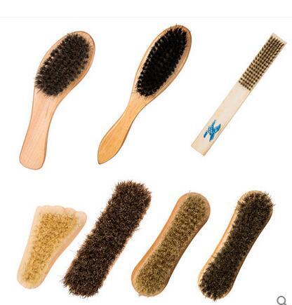 Outlet 100 horse hair brush shoe polish shoeshine scrub oiled suede shoes soft to take care of Bootpolish(China (Mainland))