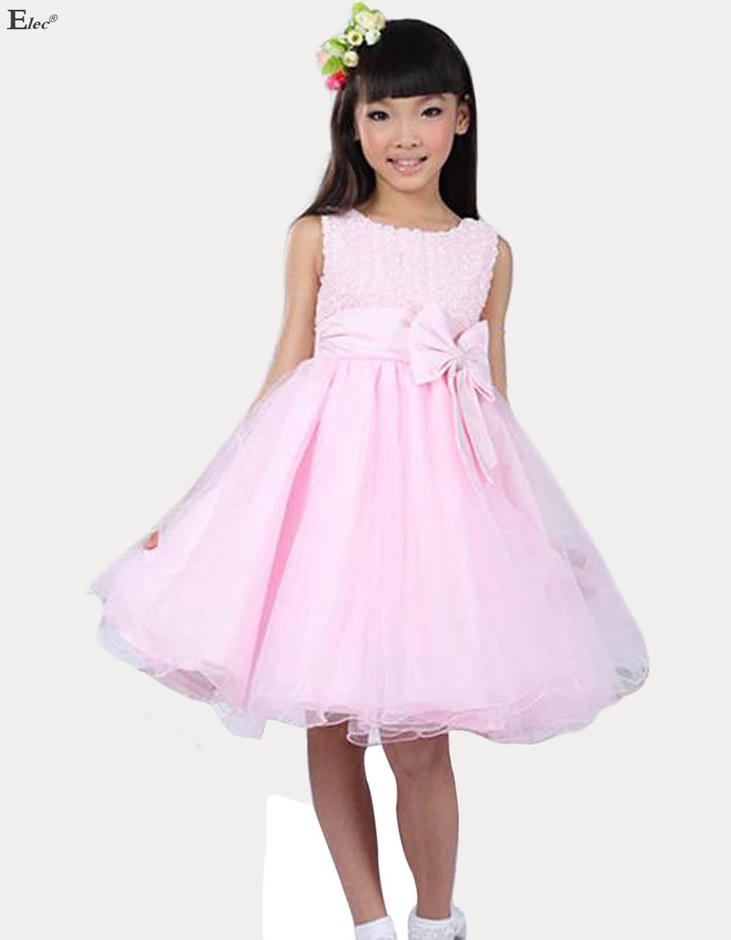 عيد الميلاد الجديد زفاف العروسة الأورجانزا الدانتيل الاطفال الطفل روز اللباس أميرة البنات فساتين زهرة فتاة الملابس(China (Mainland))