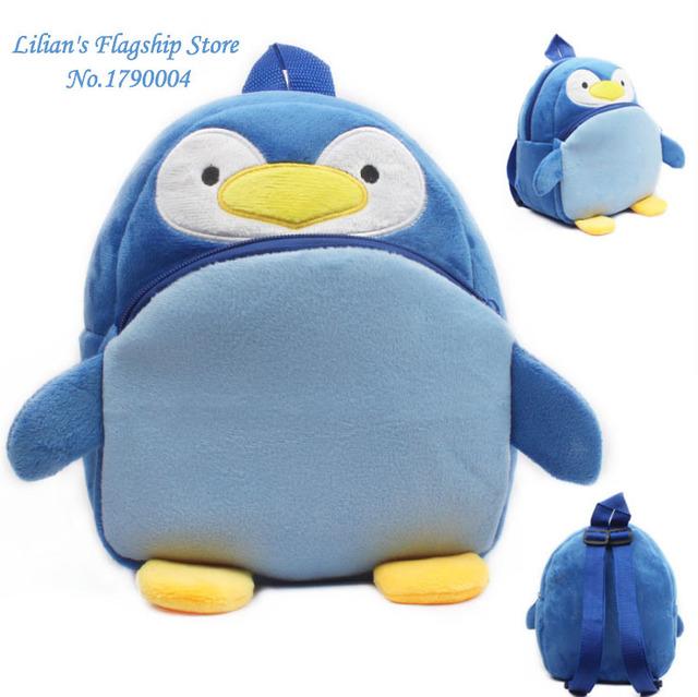 2016 высокое качество симпатичные пингвины плюшевые мультфильм рюкзак дети характер мешок подарок для детей Mochila Infantil горячая распродажа