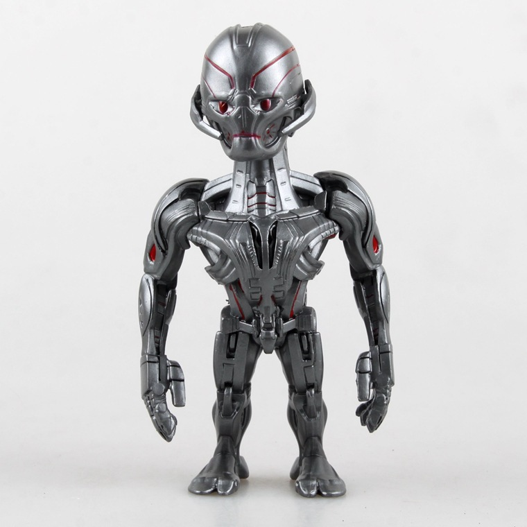 Hot Sale 14cm Marvel's The Avengers Ultron Prime Artist Mix Action Figure Shake Head Toy Doll Decoration(China (Mainland))
