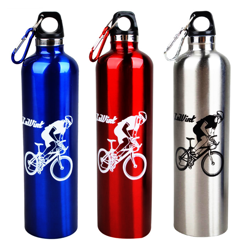 Portable Bicycle Water Bottle Outdoor Sport Bottle Quality Aluminum Alloy Bike Bicycle Cycling Mountain Sports Drink Jug 750ML(China (Mainland))