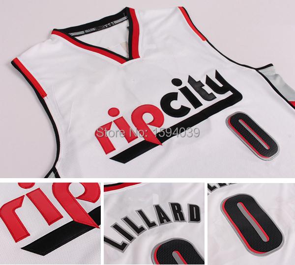 Rip City Portland #0 Damian Lillard White New Fabric Rev 30 Jerseys Basketball Jersey Cheap Jersey Rip City S-XXL Free Shipping(China (Mainland))