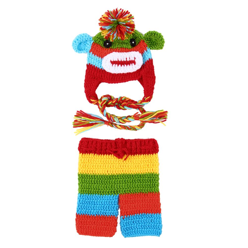 Newborn Baby Girls Boys Monkey Crochet Knit Costume Photography Prop #LD789(China (Mainland))