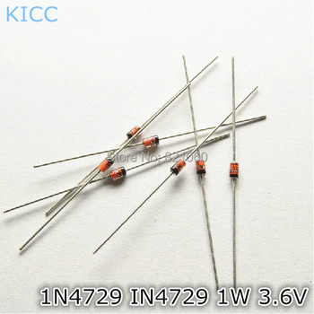 1N4729 IN4729 1W 3.6V Zener diode Voltage regulator diode IC (250Pcs/Lot)