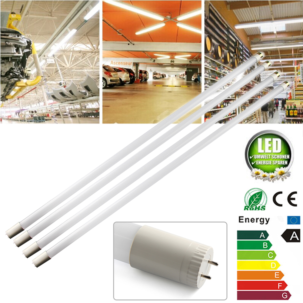 2016 Hot 4PCS T8 SMD2835 LED LB 120cm 18W LED Fluorescent Tube Light Cool White Bulb 85V-250V(China (Mainland))