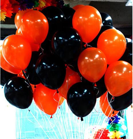 Wedding Decoration Black Orange balloons 2.3g 50pcs/lot Latex Inflatable Thickening Pearl Balloons High Quality ballon Gray Ball(China (Mainland))