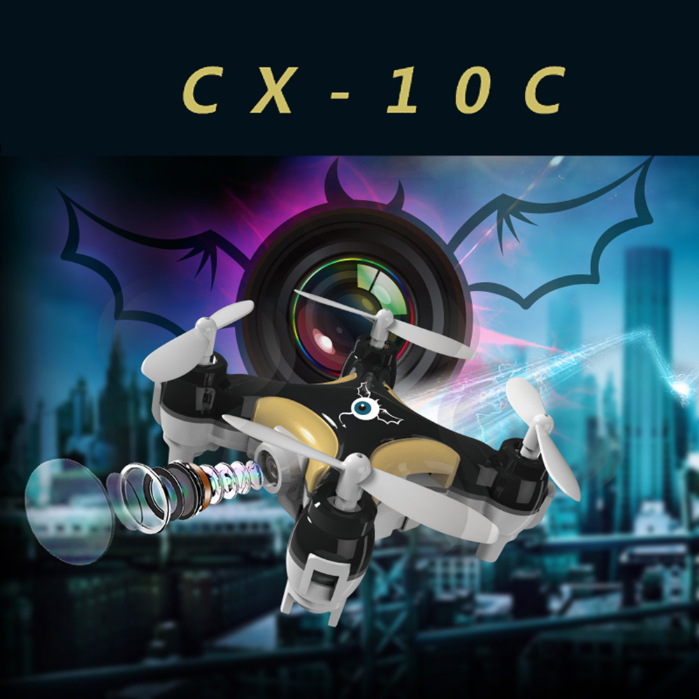 Cheerson CX-10C SMALLEST DRONE WITH CAMERA! Mini drone 2.4G 4CH 6 Axis RC Quadcopter with Camera RTF MODE2 RC Helicopter(China (Mainland))