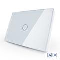 Livolo Remote Switch US AU Standard Light Dimmer Switch Luxury Crystal Glass Panel Wall Light Wireless