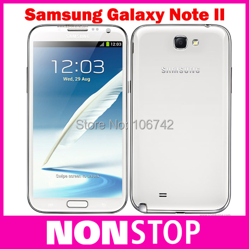 Unlocked N7100 Note2 Original Samsung Galaxy Note II N7100 cellphones 8MP camera GPS Android 4.1 phone WIFI Refurbished(China (Mainland))