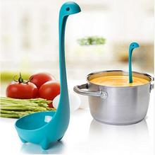 2016 New Creative Dinosaur Soup Spoon Long Handle Lovely Monster Porridge Spoons Dinnerware Cooking Tools Kitchen Accessories