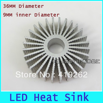 10pcs Free shipping High quality Aluminum LED Radiator LED Heat sink ,bulit-in heat radiator for bulbs,36mm diameter 15mm height