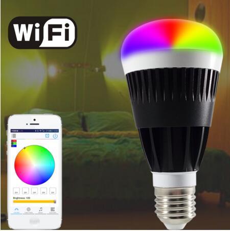 2016 CE,RoHS Approved 10W E27 RGBW WIFI LED Bulb Smart Bluetooth led bulb 800 lumen(China (Mainland))