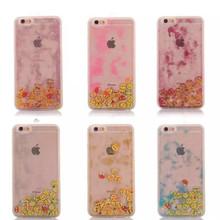 For apple iphone SE 5 5S 6 6S 6SPlus noctilucence cover flow liquid phone case skype expression back over
