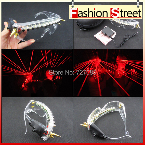 New Arrived 650nm Red laser glasses Party Red laser glasses 12pcs laser influx of people necessary stage flashing glasses(China (Mainland))