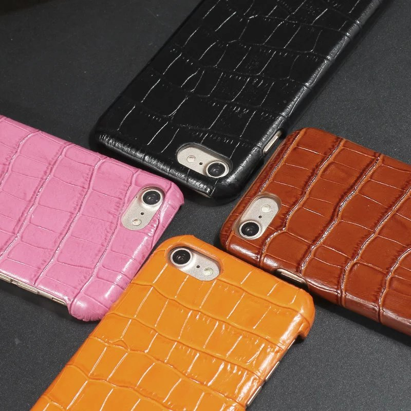Luxury Phone Cases For iPhone 7 6 6S Plus Cell Phone Real Genuine Leather Cover for iPhone 5 5S SE Fundas 3D Crocodile Pattern(China (Mainland))